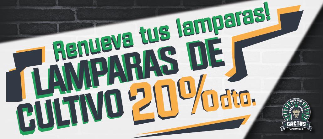 Lamparas de Cultivo 20% Descuento Renueva tus lamparas!