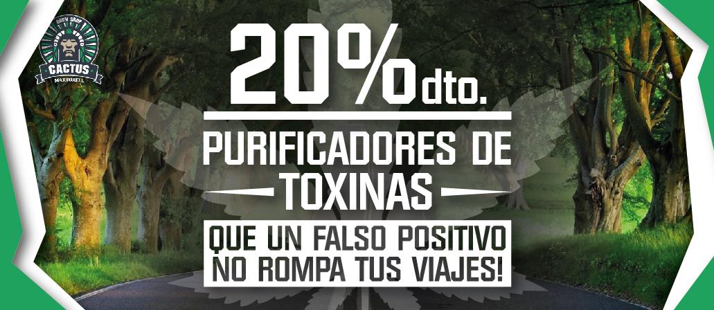 Purificadores Toxinas 20% de descuento