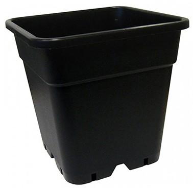 Pot Carre Noir 18 Litres